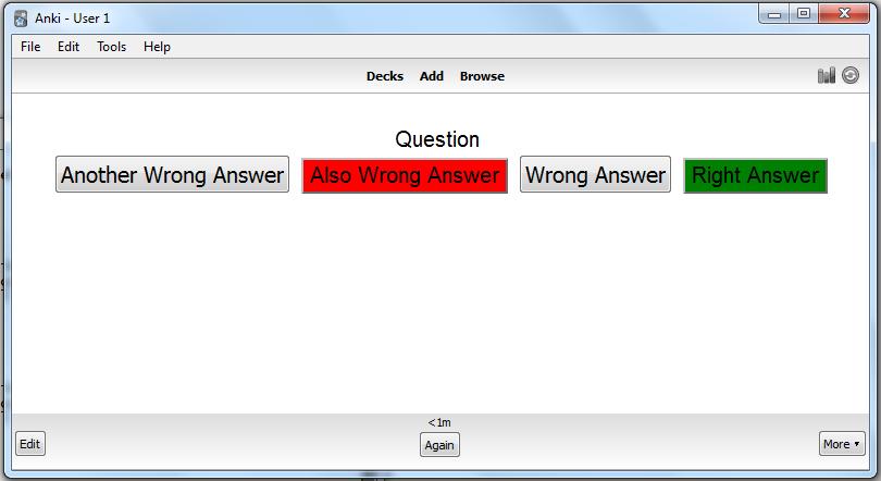Multiple Choice Quiz in Anki — Bgro's Anki Plugins 1 0 0